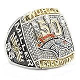 ZNKVJ Mens Denver Broncos Miller Championship Rings Of The Year 2015,Size 10