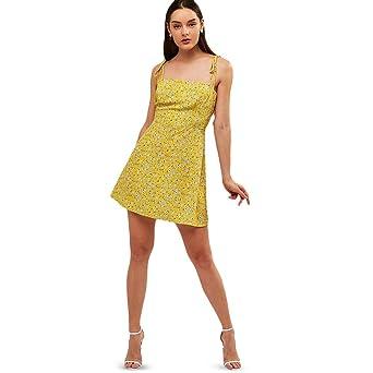 4960247b7f7 Amazon.com  ZAFUL Women s Mini Dress Spaghetti Straps Sleeveless Boho Beach  Dress  Clothing