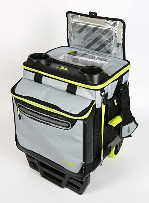 TITAN DEEP FREEZE nevera plegable y carro todoterreno con ruedas ...