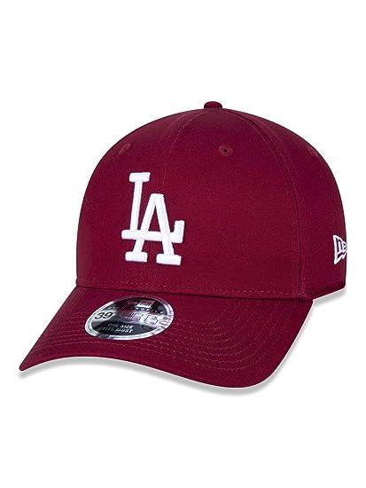 4f6110c13 BONE 3930 LOS ANGELES DODGERS MLB ABA CURVA VERMELHO ESCURO NEW ERA ...