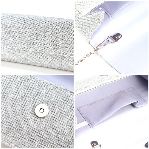 Ladies Evening Party Small Clutch Bag Bridal Purse Handbag Cross Body Tote by Anladia (Image #5)