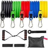Resistance Bands Set for Men and Women, Exercise Bands 5 Stackable Workout Bands with Upgraded Buckles and Handles, Door…