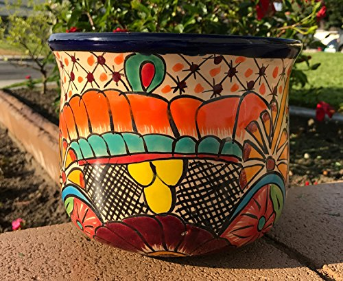 (Authentic Fine TALAVERA Ceramic Pot 8