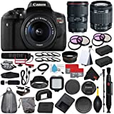 6Ave Canon EOS Rebel T6i DSLR Camera with EF-S 18-55mm f/3.5-5.6 IS STM Lens 0591C003 + Canon EF 16-35mm f/4L IS USM Lens (International Model) + Rode VideoMic GO + Deluxe Cleaning Kit Bundle