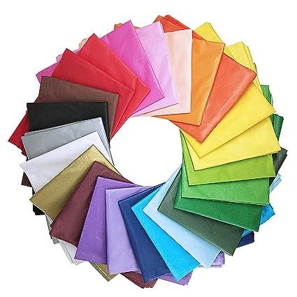 Amazon Com Supla 120 Sheets 24 Colors Tissue Paper Bulk Wrapping
