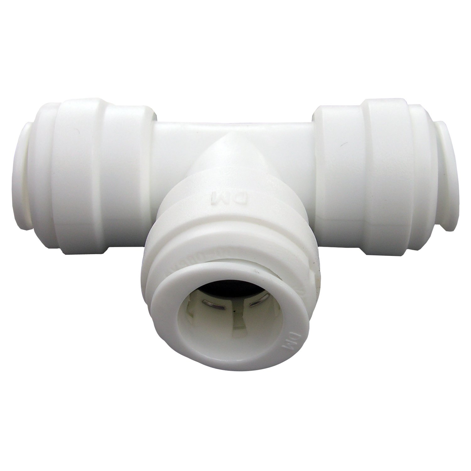 LASCO 19-6135 Reducing Tee Push-In Fitting with 3/8 x 3/8 x 1/4-Inch OD Tubing, Plastic