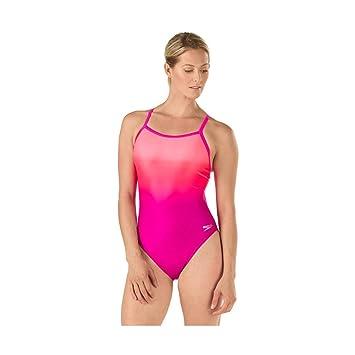 0909f03120 Speedo Women's Powerflex Eco Ombre Flyback One Piece Swimsuit, Pink, ...
