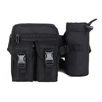 Duo mishu Riñonera multifuncional cintura cinturón bolso con botella de agua ajustable Racing/caminar/
