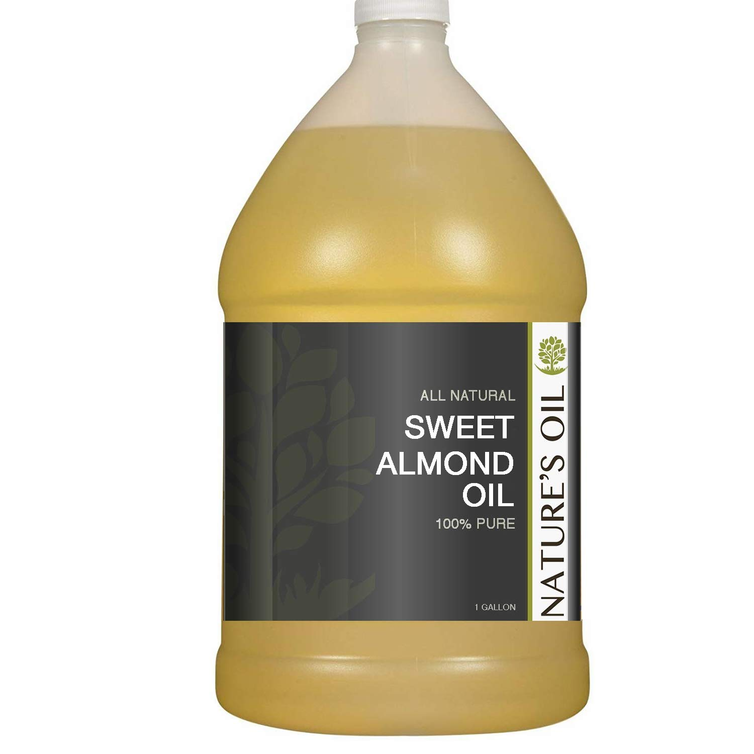 Sweet Almond Oil Gallon - 100% Pure Carrier for Massage, Diluting Essential Oils, Aromatherapy, Hair & Skin Care Benefits, Moisturizer & Softener - by Nature's Oil. by Nature's Oil