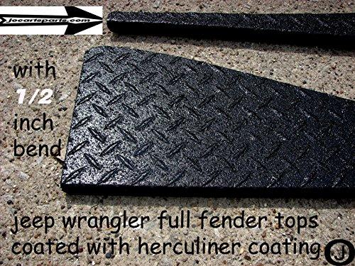 Jeep TJ Black Coated Diamond Plate Full Top Fender Cover ...