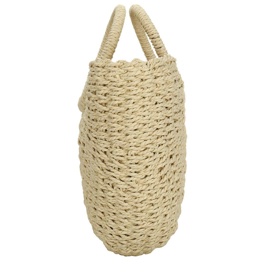 Amazon.com: EROUGE - Bolso de paja natural y elegante ...