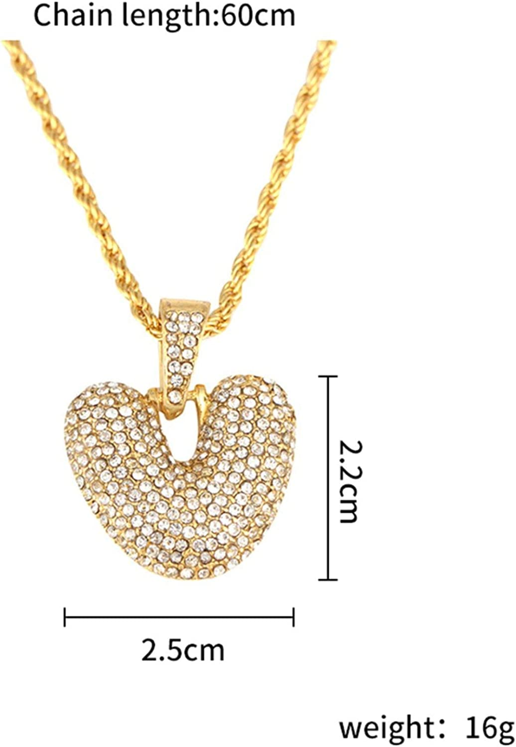 Monica/'s house Zirconia Crystal 26 A-Z Letters Pendant Necklace for Men Punk Initials Name Necklace Fashion Men Hip Hop Jewelry