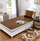 DHUANZZCA Summer Single Bed Mat/Dormitory Bedroom College Bed Air Conditioning Seats(1 Mat+1 Pillowcase)-A 0.8m