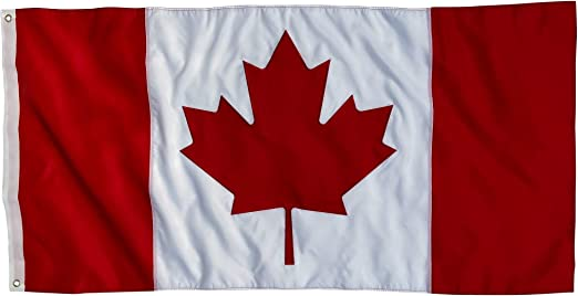 """National Flag Of CANADA 1921-1957 3/"""" X 5/"""" Feet  FLAG With GREEN LEAVES..New"""