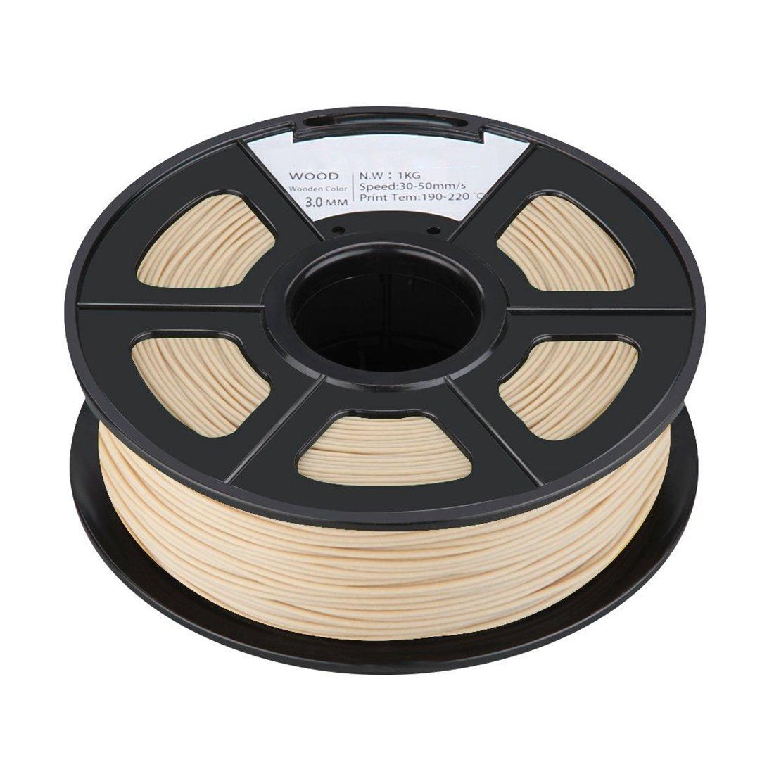 Impresora 3d filamento Spool - SODIAL (R) nueva 3 mm madera 3d ...