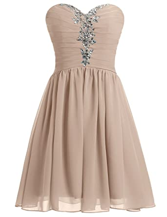 MicBridal Womens Ruched Evening Party Bridesmaid Dress Short Prom Dresses Big Sale 40% Off UK6