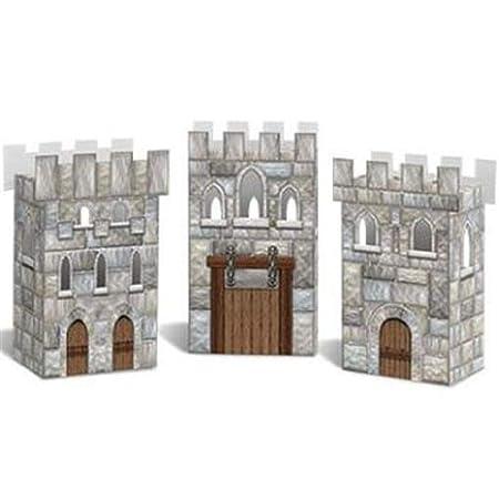 hersrfv home Castillo Favor Cajas de Papel 3 Pack Medieval ...