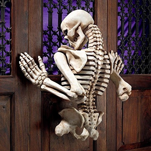 Design Toscano Ascending Evil Climbing Skeleton Wall Sculpture,