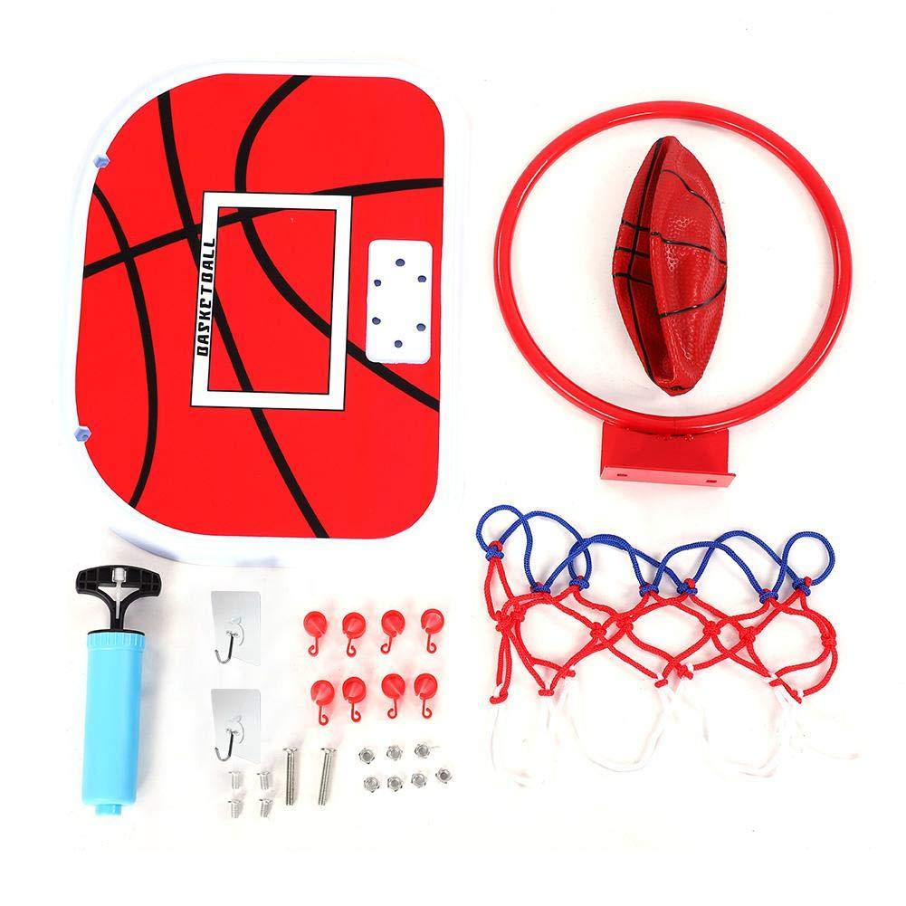 Vbestlife。 ミニバスケットボールフープ 調節可能なサスペンションネットボールフープ ミニバスケットボールプレート 子供用バスケットボールセット 屋内外の楽しいおもちゃ B07MD5V73L Adhesive Hook