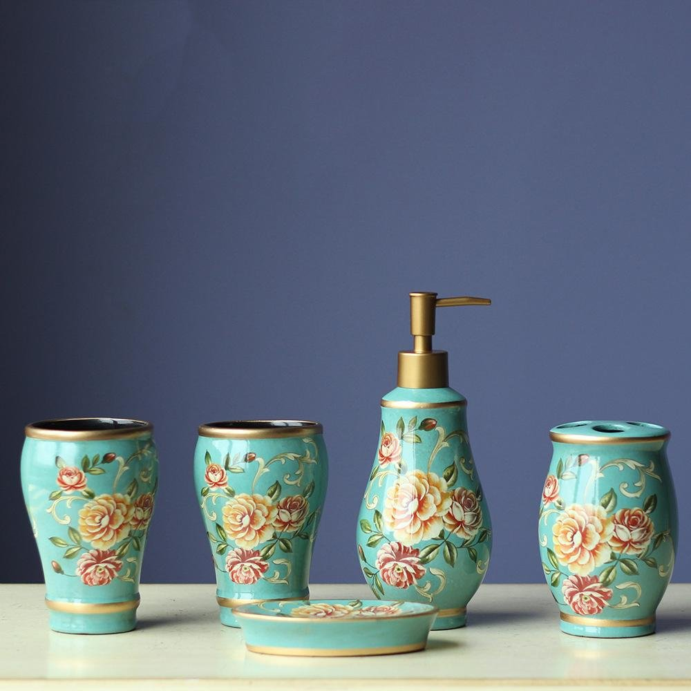 Z@SS Home 5 PEZZI Deluxe ceramica SET DA BAGNO , 11618