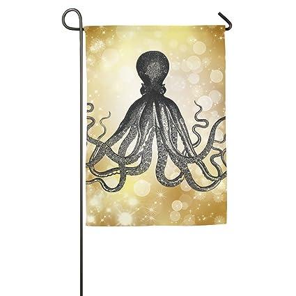Christmas In Octopus Garden >> Amazon Com Cool Kraken Octopus Garden Flag Indoor Outdoor