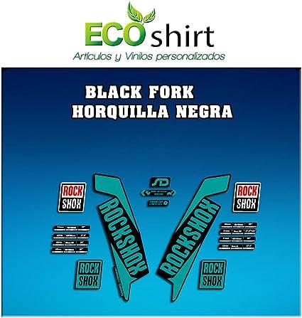 Ecoshirt DK-75XD-J9H2 Stickers Fork Rock Shox SID 2017 Am113 Aufkleber Decals Autocollants Desivi Turquoise