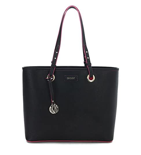 Bolso shopping DKNY by Donna Karan de piel saffiano color negro  Amazon.es   Zapatos y complementos befdceaf5a23