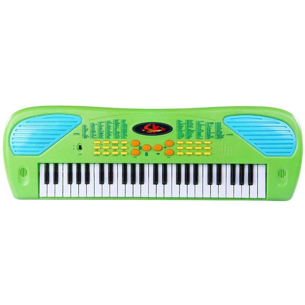 Kinder-Anfänger-Tastatur 49 Tasten Multifunktions-Erste Schritte Grün Grün Grün 3c2950