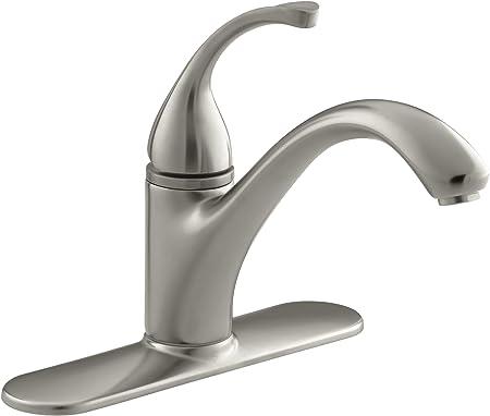 Kohler 10411 Bn Forte R 3 Hole Sink 9 1 16 Spout Kitchen Faucet