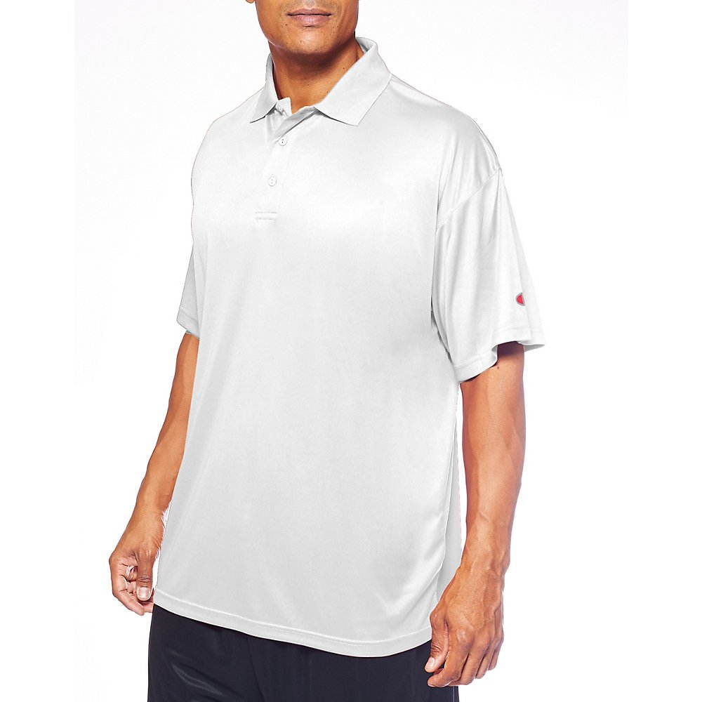 Champion Mens Big /& Tall Short-Sleeve Polo Shirt White 5XL
