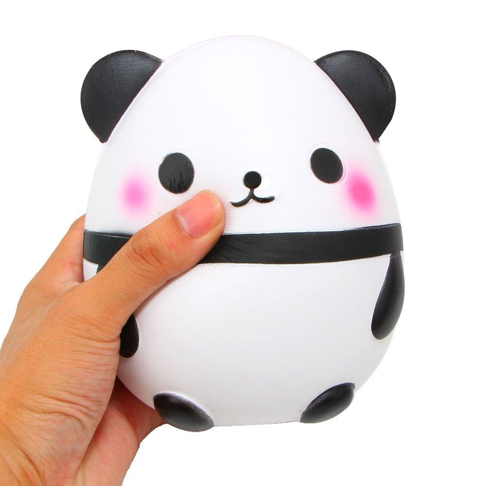 Blanketswarm 1 Pieza Squishy Exprimir Levantamiento lento reductor de estrés Lindo animal suave pan de juguete (Panda - 5.6'')