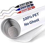 White Board Wallpaper, White Board Roll, Stick on White Boards for Wall, 1.5x11ft Peel and Stick Dry Erase Roll, Stain-Proof,