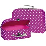 Cause Suitcases with Dots (Purple/ White)