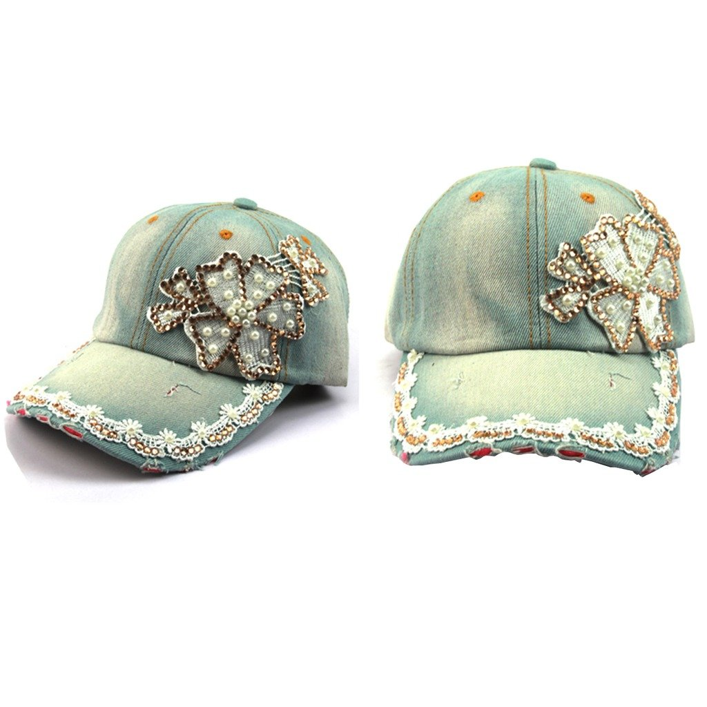 ECYC Brand Rhinestone Studded Diamond hat Cowboy cap Tidal Lady hat Spring Summer style Peaked Casual hat by ECYC (Image #1)