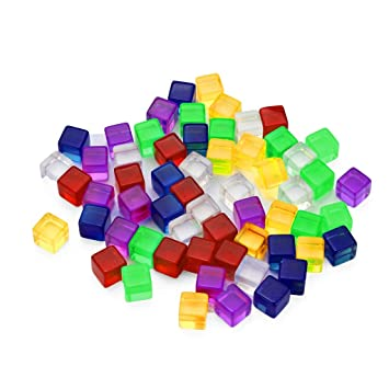 50pcs Mix Color Blank Dices D6 Six Sided D/&D RPG Party Gaming Playing Dice