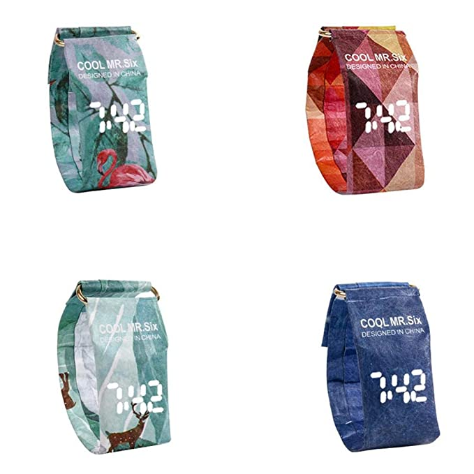 Amazon.com: Yunt Creative Paper Watch,Digital Wrist Paper Watch Waterproof Paper Watch: Home & Kitchen