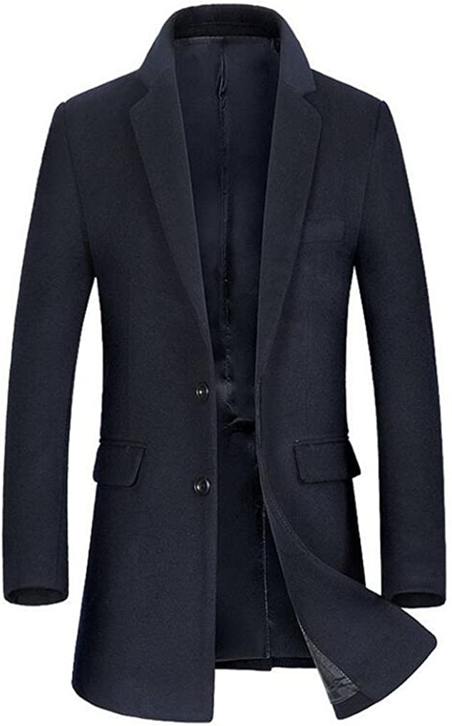 Next Class Mens Hipster British Single Breasted Wool Coat