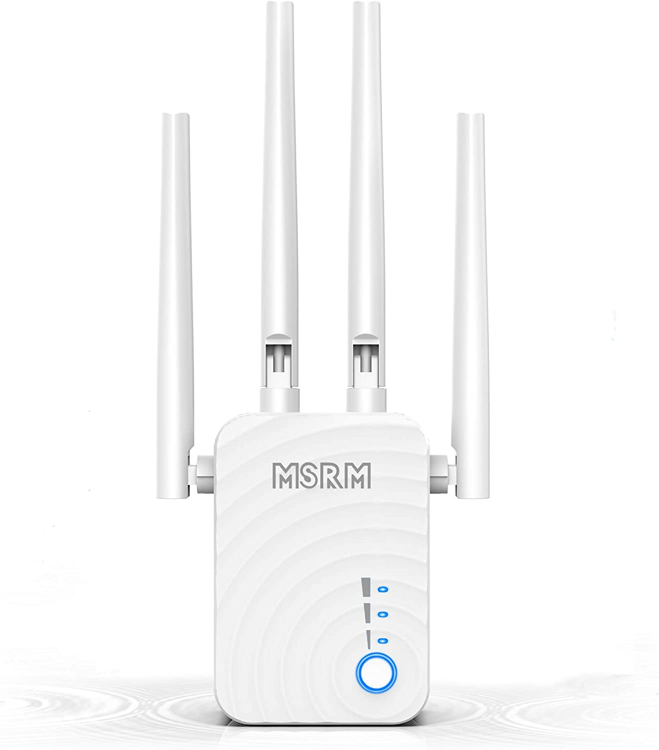 1200Mbps WiFi Range Extender, US754 Signal Amplifier Booster with 4 Band Antennas Complies 802.11a/b/n/g/ac WiFi Extender.