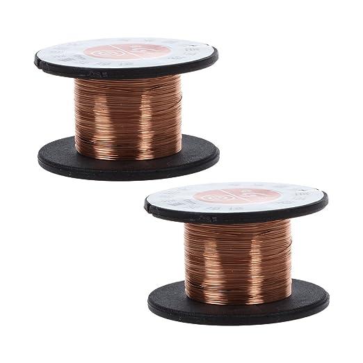 6 opinioni per SODIAL (R) 2 pezzi 15m 0.1MM rame saldatura saldatura filo smaltato bobina
