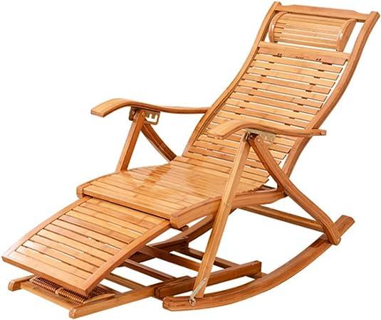 LQ-RLL Chaise Longue de Madera - Silla Plegable Pausa para el Almuerzo Silla balconera Silla de Playa Silla para Ancianos Silla de jardín de Madera: Amazon.es: Hogar