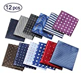 Jeatonge Pocket Square For Men Assorted 12 Pack (Style 03)