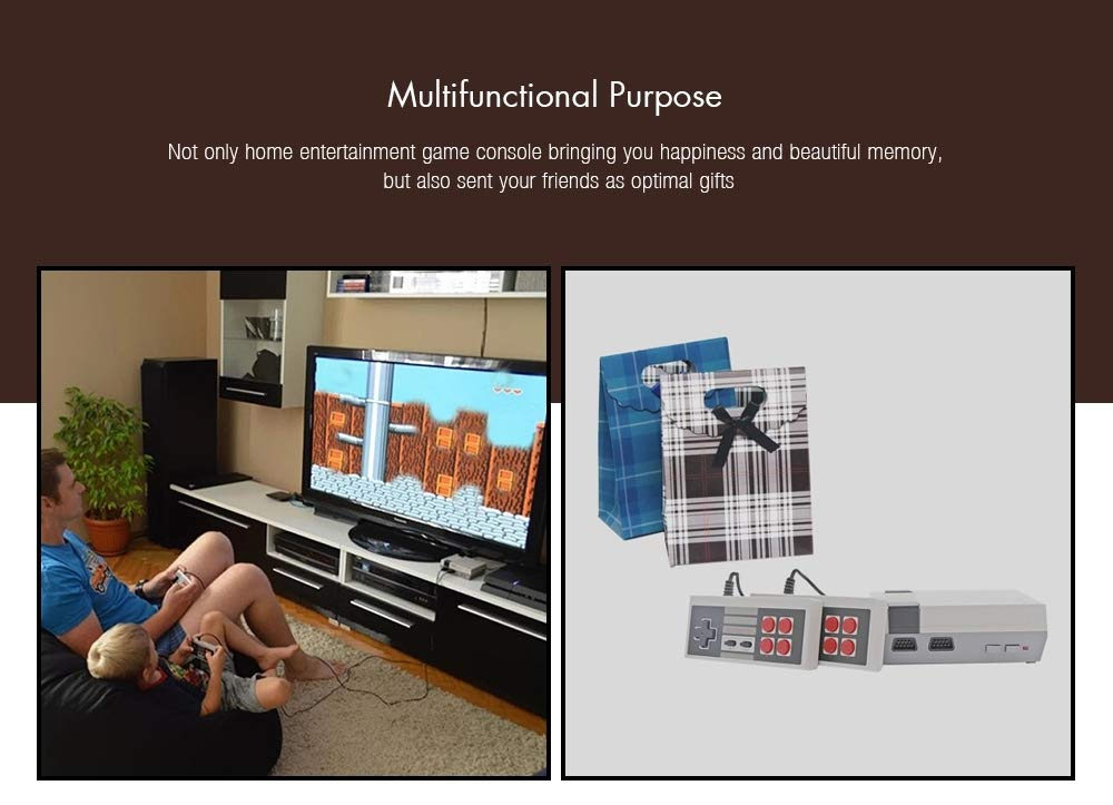 Mini Retro Classic Video Game Console Built-in 620 Games 8 Bit PAL&NTSC Family TV Handheld Game Player Double Gamepads by Dapool (Image #3)