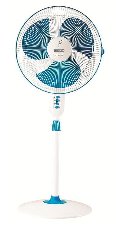 Usha Maxx Air Pedestal Fan (New Blue)