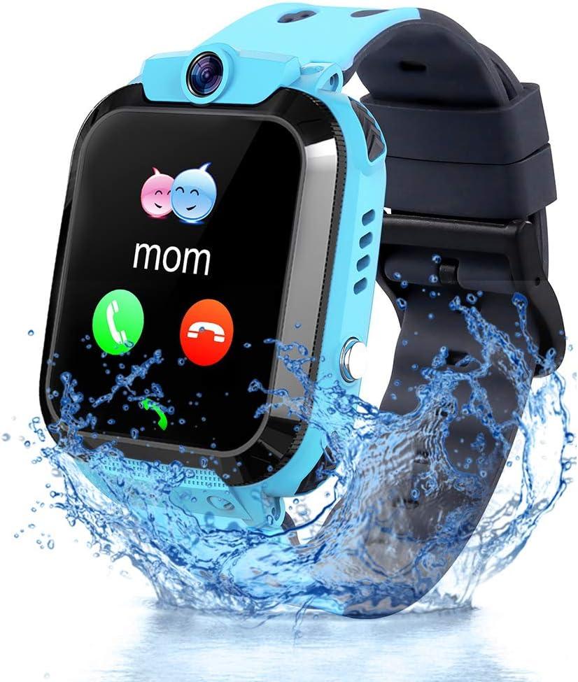 Vannico Reloj Inteligente Niño, Smartwatch para Niños IP68, LBS, Juegos, Llamada, SOS, Cámara, Chat de Voz, Modo de Clase, Reloj Regalo para Niños de 3-12 años