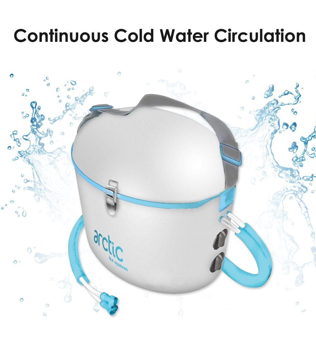 Cold Water Therapy Back Pad Accessory for Arctic Ice Machine - Circulating Personal Cooling Device for Back Pain, Aches, Swelling, Sprains, Inflammation, Injuries (Pad Only)