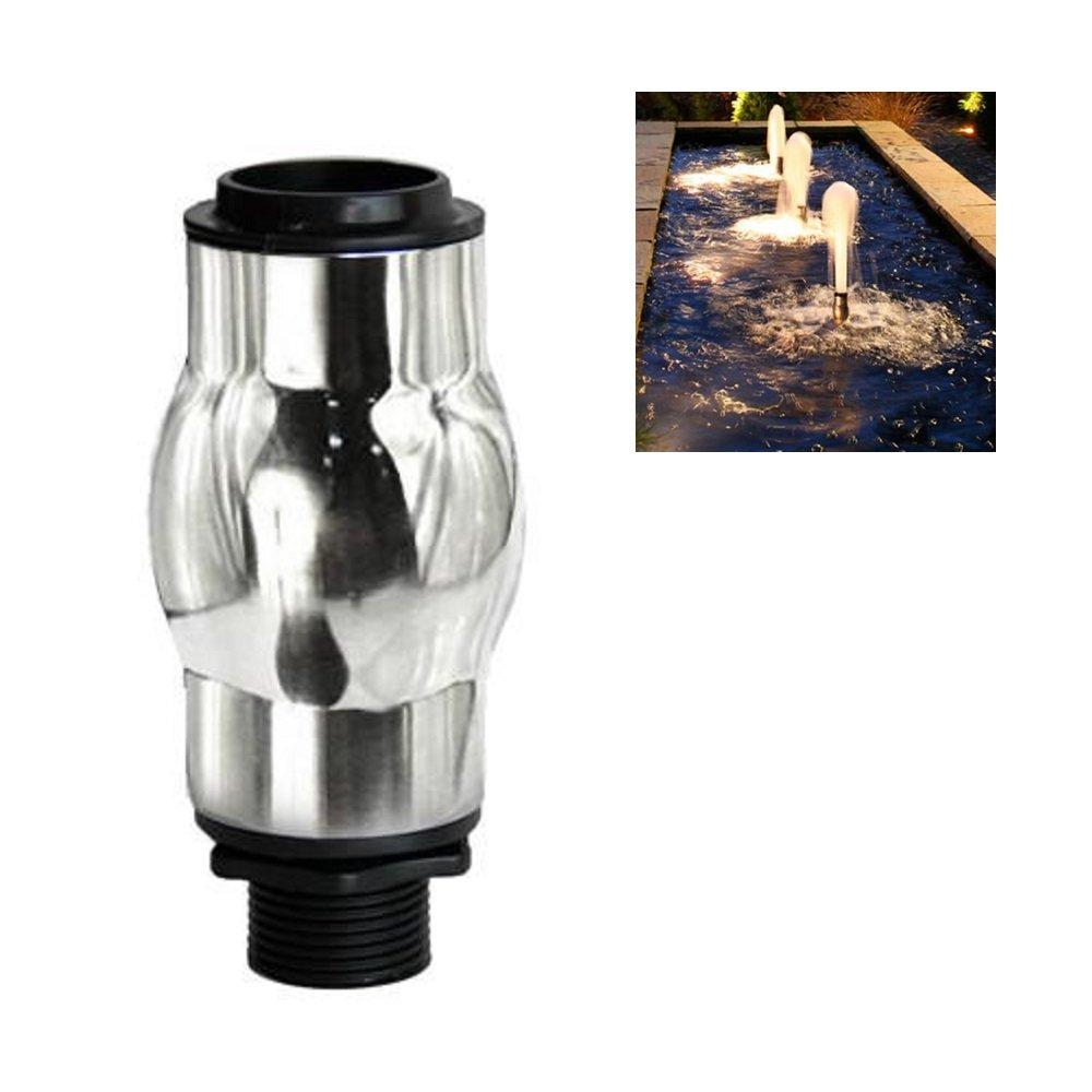 NAVADEAL 1''DN25 Stainless Steel Foam Jet Water Fountain Nozzle Spray Sprinkler Head