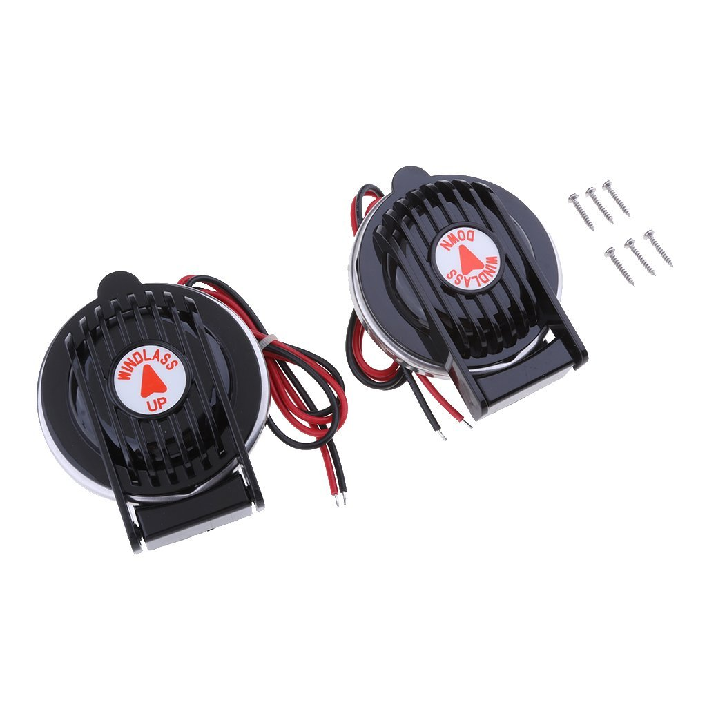 Homyl 2X up & Down Footswitch Foot Switch for Marine Boat Anchor Winch Windlass