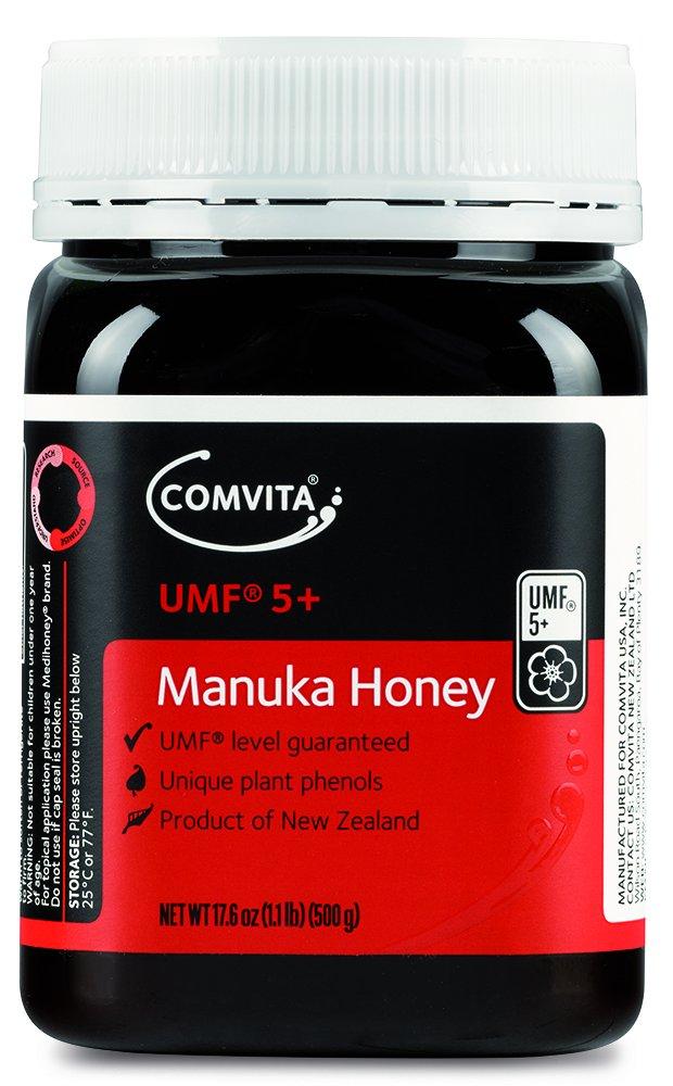 Comvita Certified UMF 5+ (Authentic) Manuka Honey I New Zealand's #1 Manuka Brand I Non-GMO, Halal, and Kosher Certified I 500g (17.6oz)
