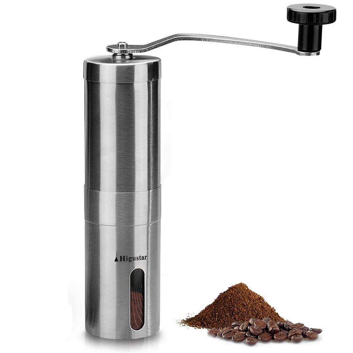 Manual Burr Coffee Grinder Conical Ceramic Mill Consistency Grinding Hand Coffee Grinder Stainless Steel
