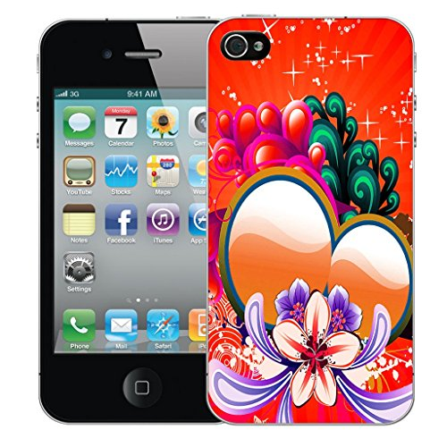 Mobile Case Mate iPhone 5c Silicone Coque couverture case cover Pare-chocs + STYLET - Red Sweetheart pattern (SILICON)